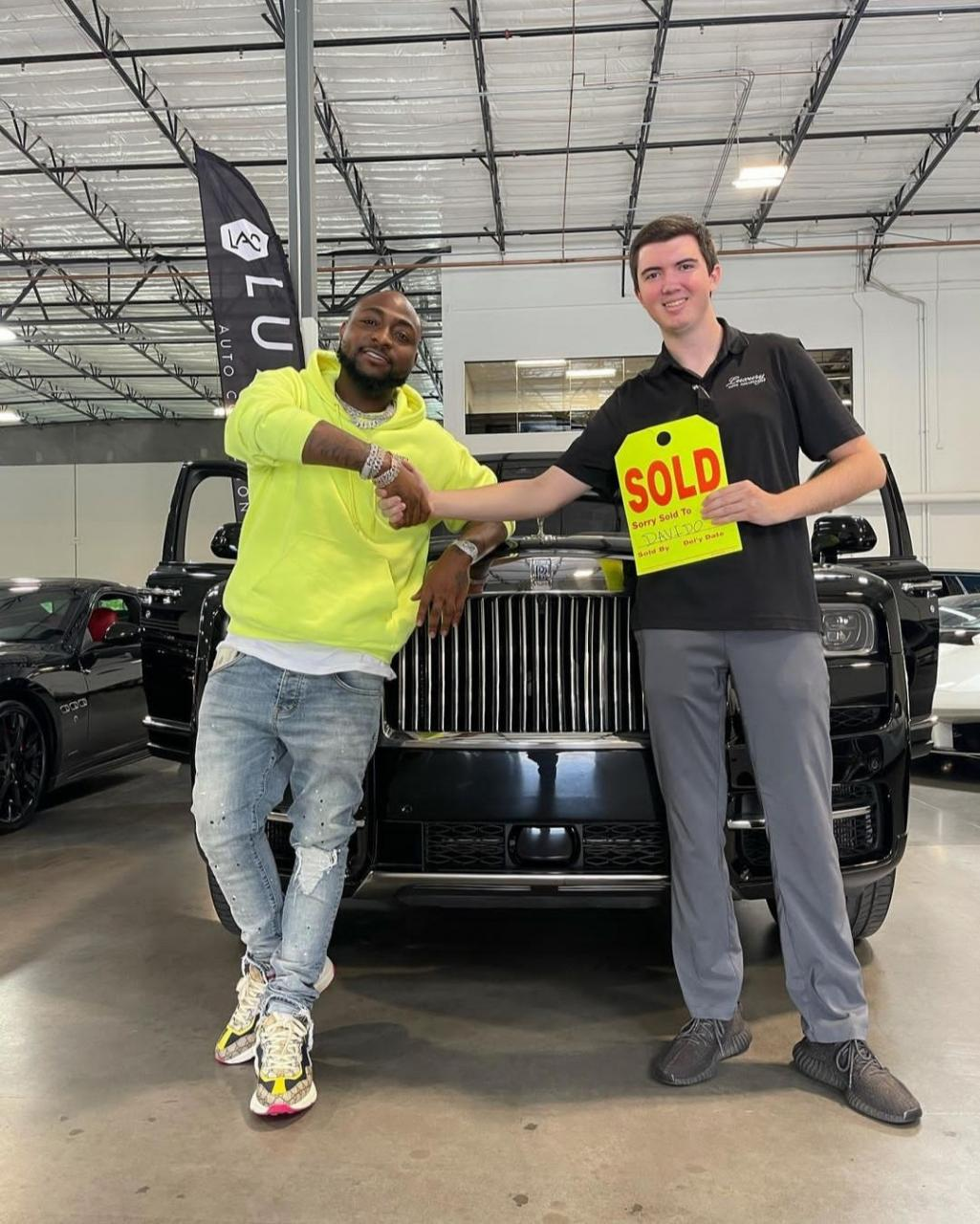 Davido acquires 2021 Rolls Royce Cullinan worth about 0,000